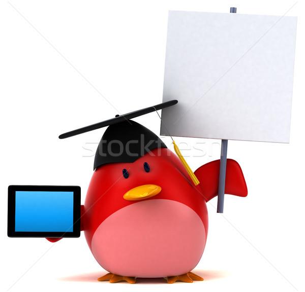 Vermelho pássaro ilustração 3d internet laranja peito Foto stock © julientromeur