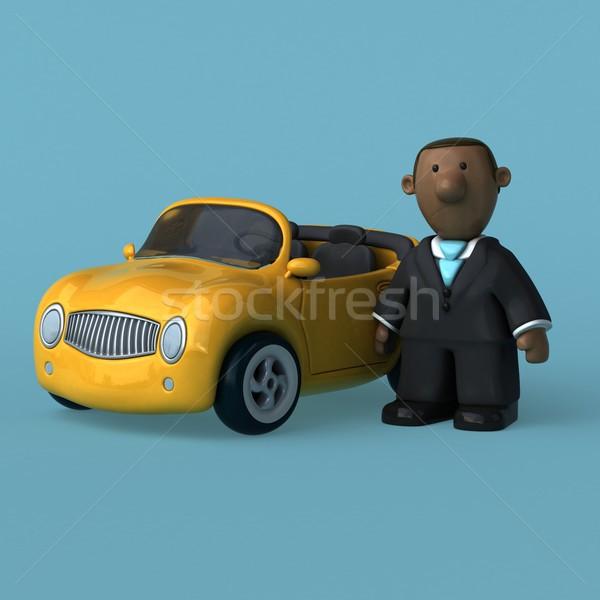 漫画 ビジネスマン 3次元の図 ビジネス 男 作業 ストックフォト © julientromeur