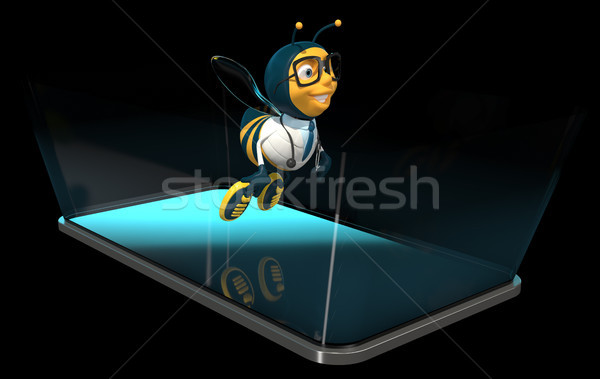 Ape telefono illustrazione 3d medico arte mobile Foto d'archivio © julientromeur