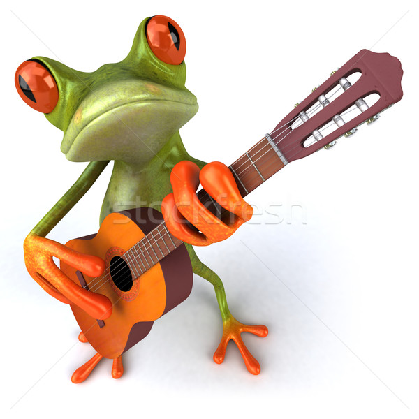 Frog and music Stock photo © julientromeur