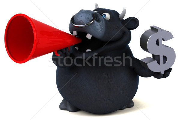 Black bull - 3D Illustration Stock photo © julientromeur