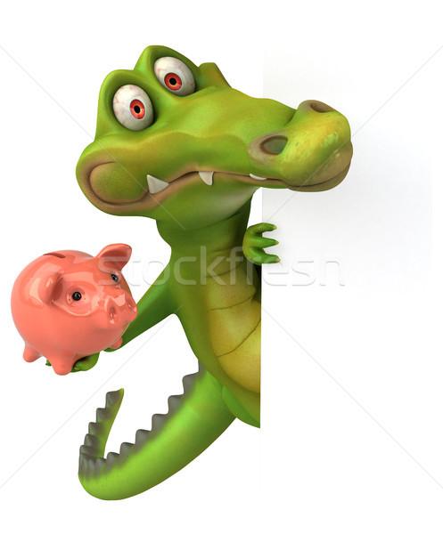 Crocodilo diversão feliz projeto arte boca Foto stock © julientromeur