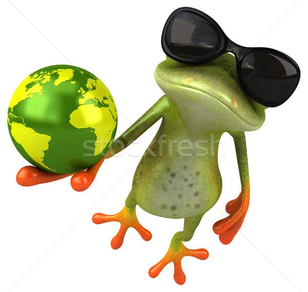 Сток-фото: весело · лягушка · глаза · природы · Мир · планеты