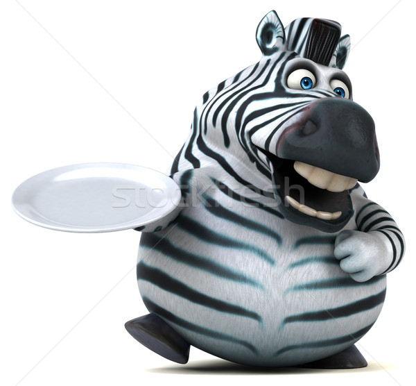 Leuk zebra 3d illustration afrika plaat dier Stockfoto © julientromeur