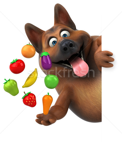 Fun german shepherd dog - 3D Illustration Stock photo © julientromeur
