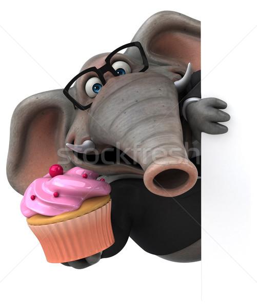 Diversão elefante ilustração 3d terno animal camisas Foto stock © julientromeur