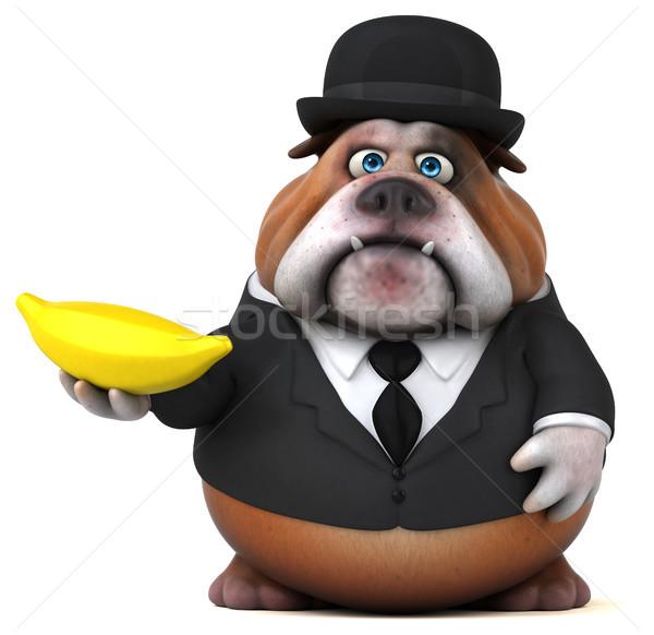 Zabawy bulldog 3d ilustracji projektu smutne garnitur Zdjęcia stock © julientromeur
