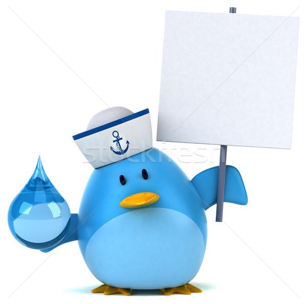 Blue bird - 3D Illustration Stock photo © julientromeur