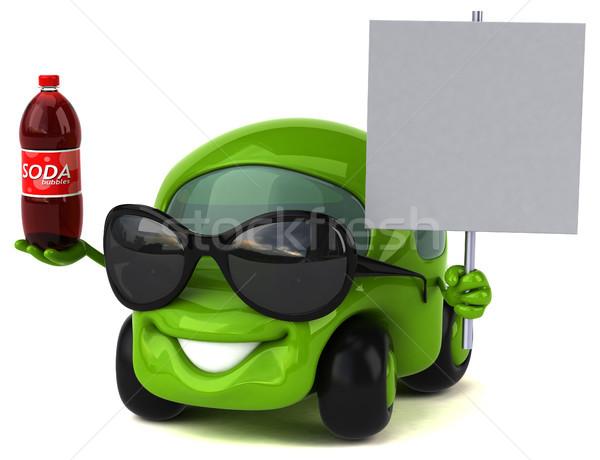 Leuk auto 3d illustration weg drinken energie Stockfoto © julientromeur