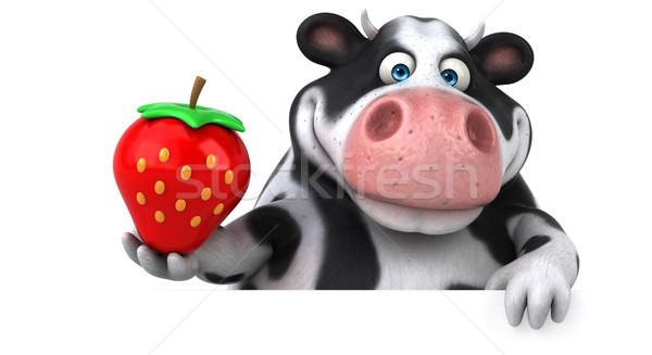 Eğlence inek 3d illustration doğa saç meyve Stok fotoğraf © julientromeur