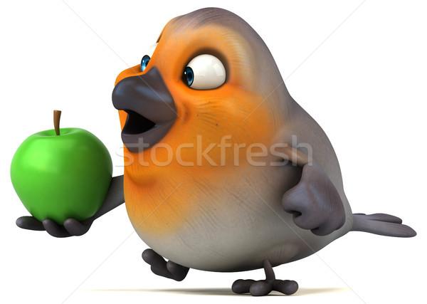 Eğlence kuş elma meyve turuncu meme Stok fotoğraf © julientromeur