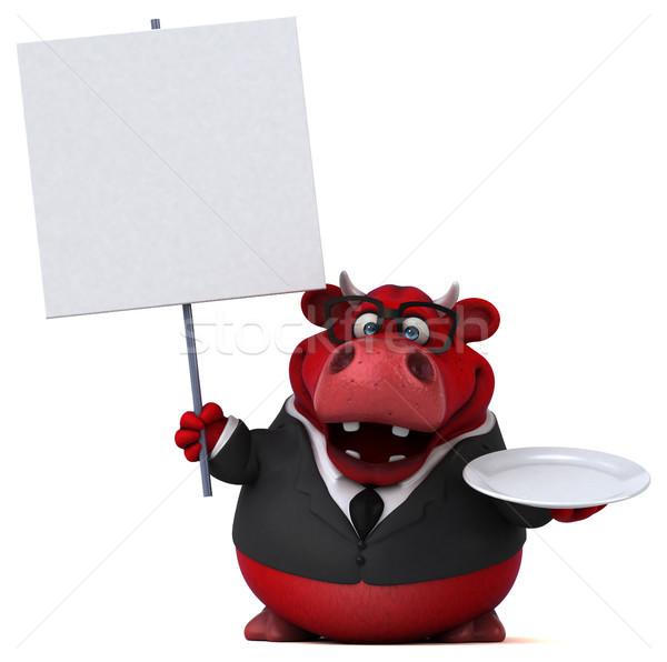 Roşu taur ilustrare 3d costum distracţie fermă Imagine de stoc © julientromeur
