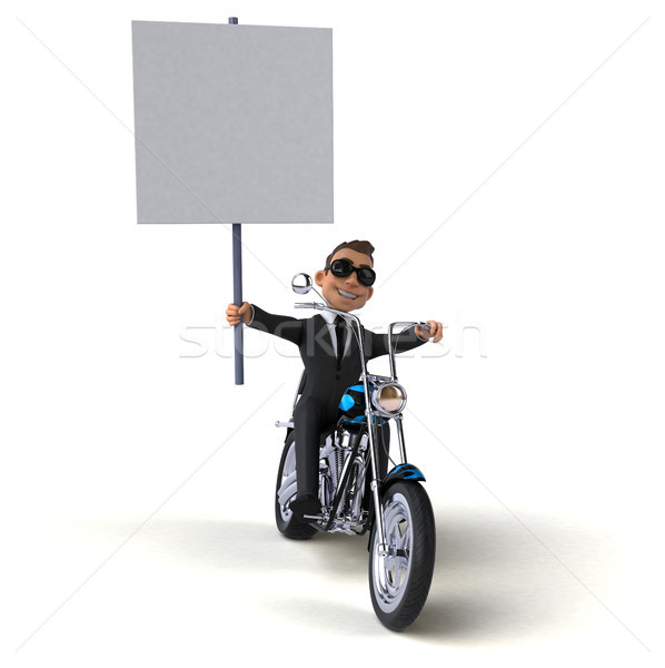 Leuk zakenman 3d illustration business man werk Stockfoto © julientromeur