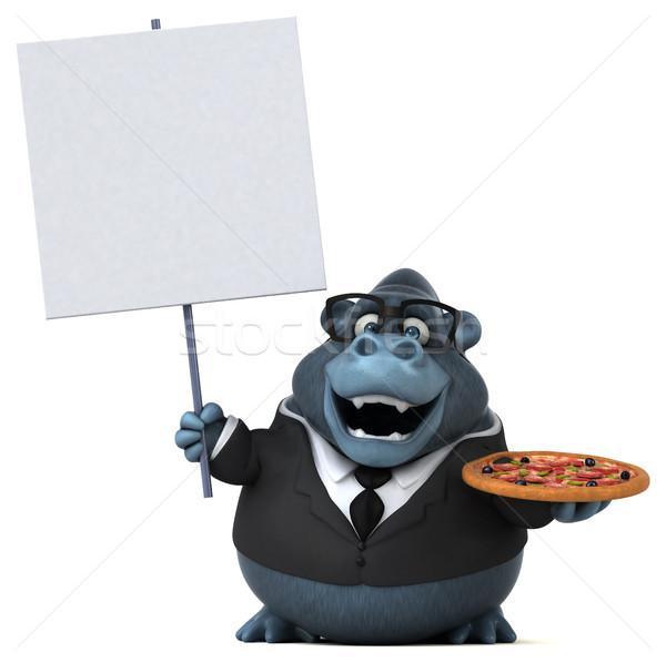 Eğlence goril 3d illustration takım elbise hayvan gömlek Stok fotoğraf © julientromeur