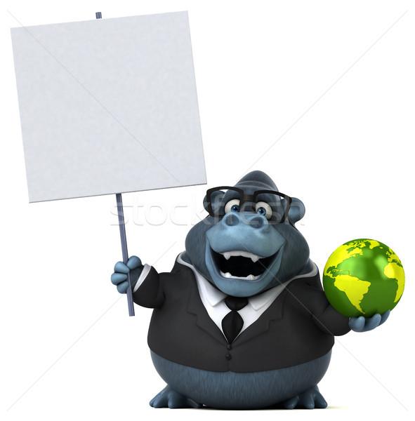 Eğlence goril 3d illustration takım elbise hayvanlar gezegen Stok fotoğraf © julientromeur