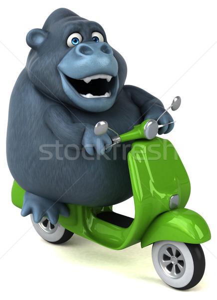 Leuk gorilla 3d illustration model kunst stedelijke Stockfoto © julientromeur