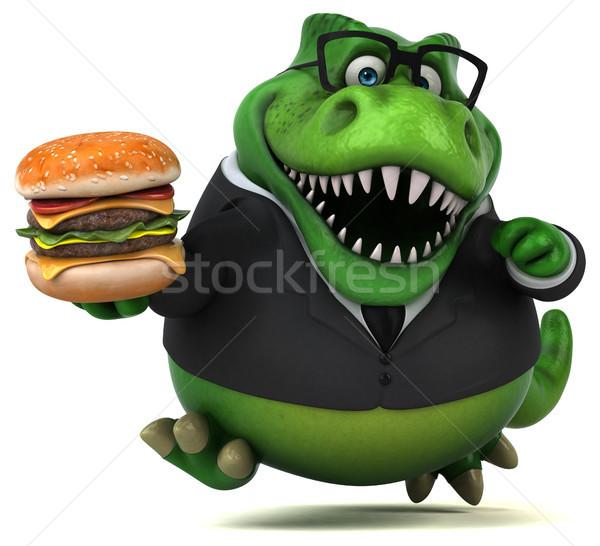 Zabawy 3d ilustracji działalności biznesmen finansów zęby Zdjęcia stock © julientromeur