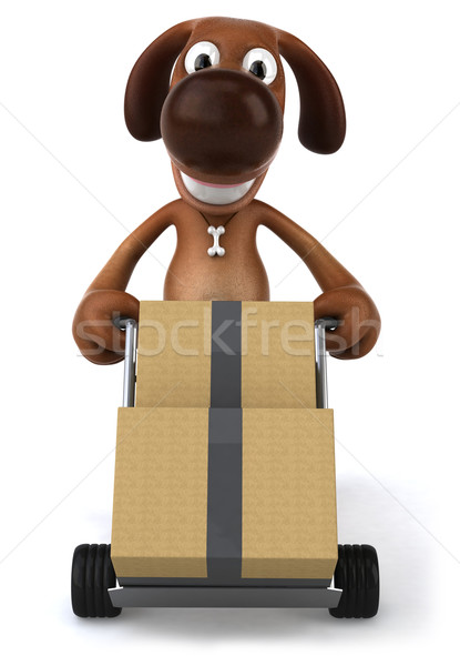 Zdjęcia stock: Zabawy · psa · zwierząt · ucha · zwierzęta · domowych