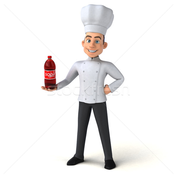 весело повар кухне пить белый приготовления Сток-фото © julientromeur