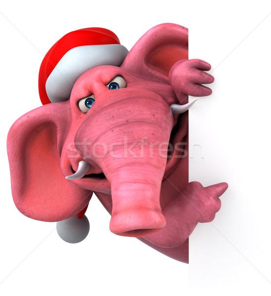 Pembe fil 3d illustration bira çılgın hayvan Stok fotoğraf © julientromeur