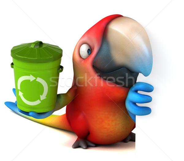 Eğlence papağan göz kuş yeşil orman Stok fotoğraf © julientromeur