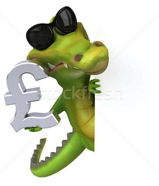 Fun crocodile - 3D Illustration Stock photo © julientromeur