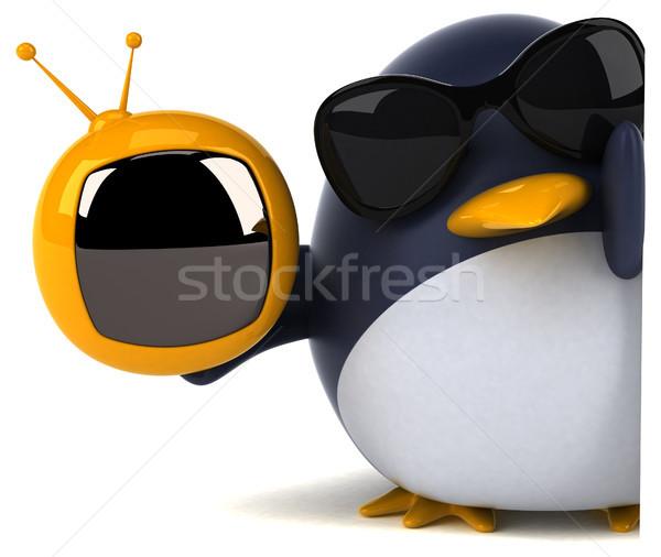 Jókedv pingvin 3d illusztráció madár képernyő vicces Stock fotó © julientromeur