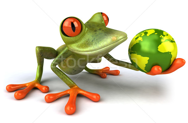 Fun frog with world Stock photo © julientromeur