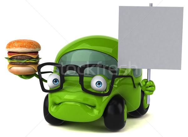 Leuk auto 3d illustration weg energie verkeer Stockfoto © julientromeur