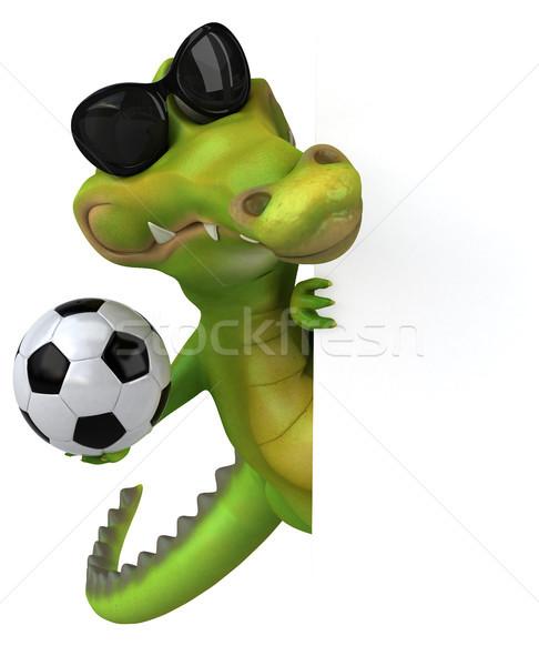 Crocodilo diversão futebol feliz projeto futebol Foto stock © julientromeur
