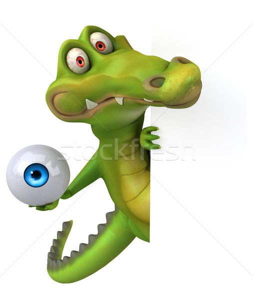 Krokodil jókedv szem boldog terv művészet Stock fotó © julientromeur