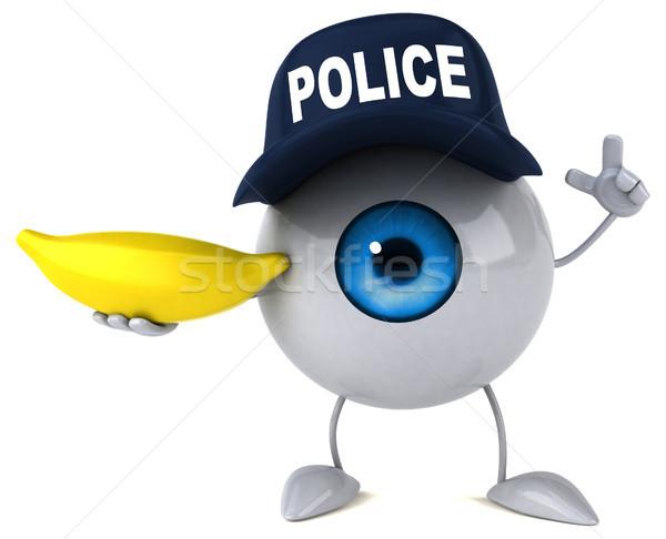 Auge Licht Schönheit Medizin blau Bananen Stock foto © julientromeur