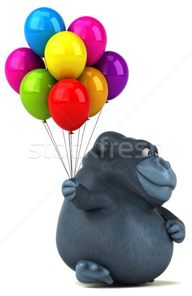 Fun gorilla - 3D Illustration Stock photo © julientromeur