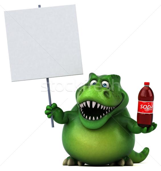 весело динозавр 3d иллюстрации пить зубов животного Сток-фото © julientromeur
