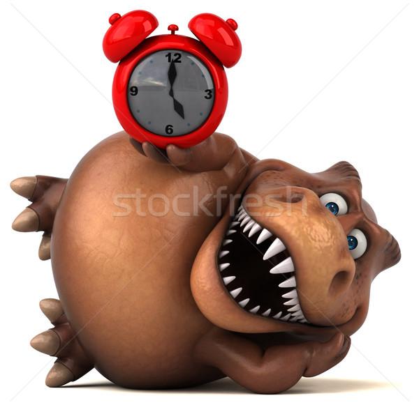 Eğlence 3d illustration saat dişler hayvan tarih Stok fotoğraf © julientromeur