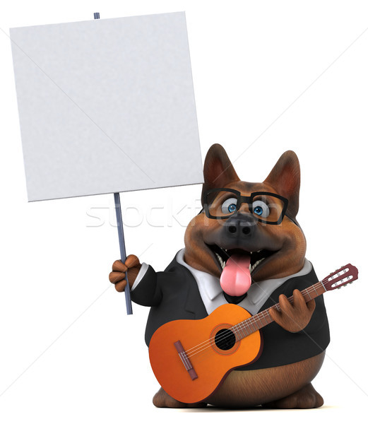 Pastor perro 3d música guitarra animales Foto stock © julientromeur