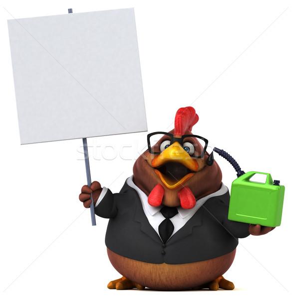 Eğlence tavuk 3d illustration kuş takım elbise finanse Stok fotoğraf © julientromeur