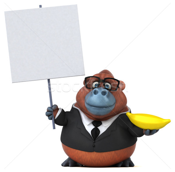 Stok fotoğraf: Eğlence · 3d · illustration · iş · doğa · işadamı · maymun