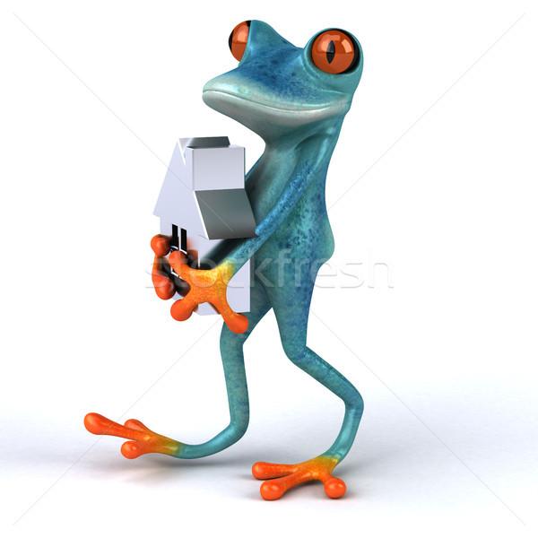 Fun frog- 3D Illustration Stock photo © julientromeur