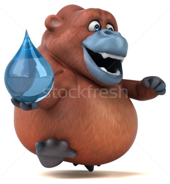 Fun orangoutan - 3D Illustration Stock photo © julientromeur