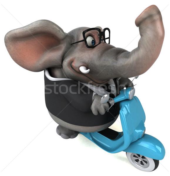 Leuk olifant 3d illustration model kunst stedelijke Stockfoto © julientromeur