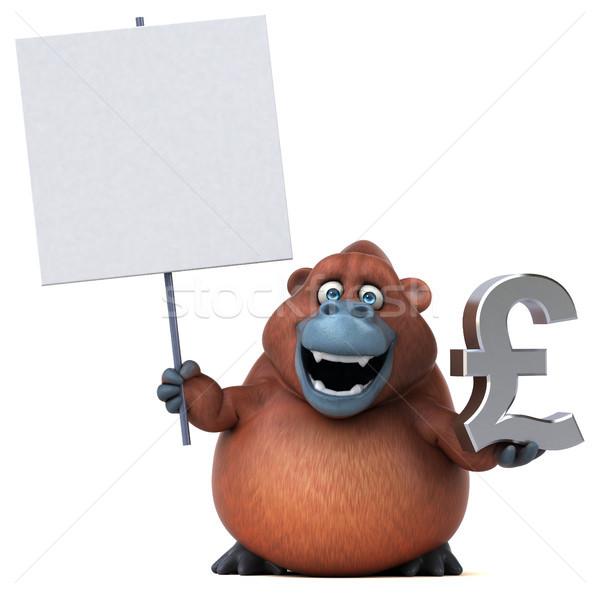 Eğlence 3d illustration para finanse maymun İngilizce Stok fotoğraf © julientromeur