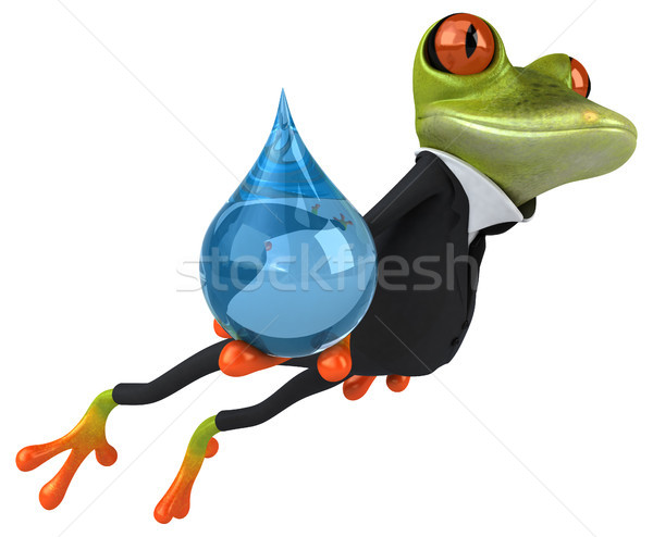Jókedv béka üzlet szem természet öltöny Stock fotó © julientromeur