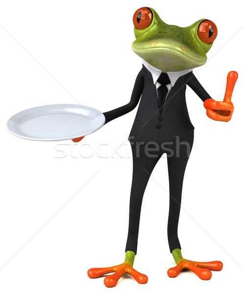 Divertimento rana business alimentare occhi natura Foto d'archivio © julientromeur