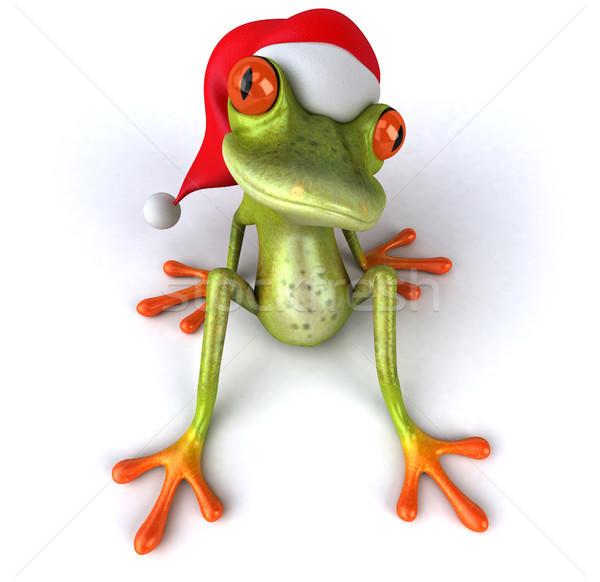Jókedv béka szem trópusi karácsony 3D Stock fotó © julientromeur