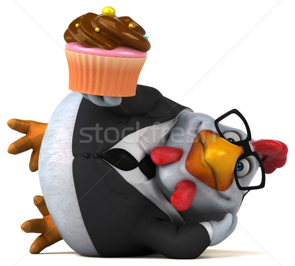 Fun chicken - 3D Illustration Stock photo © julientromeur