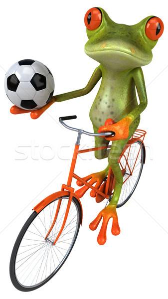 весело лягушка Футбол спорт футбола велосипедов Сток-фото © julientromeur