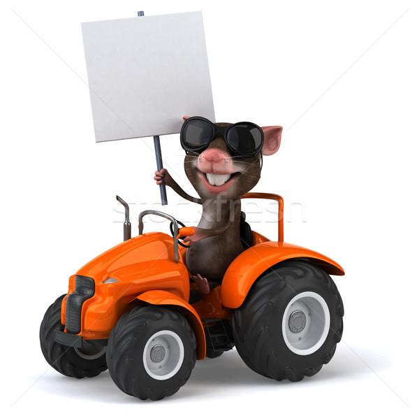 Eğlence fare komik hayvan ülke traktör Stok fotoğraf © julientromeur