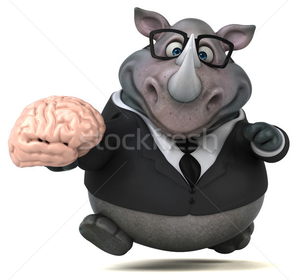 Stock photo: Fun rhinoceros - 3D Illustration