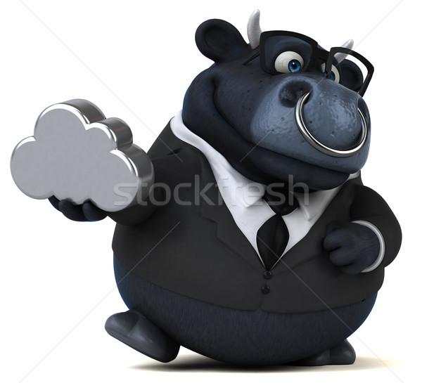 Fekete bika 3d illusztráció üzlet üzletember farm Stock fotó © julientromeur